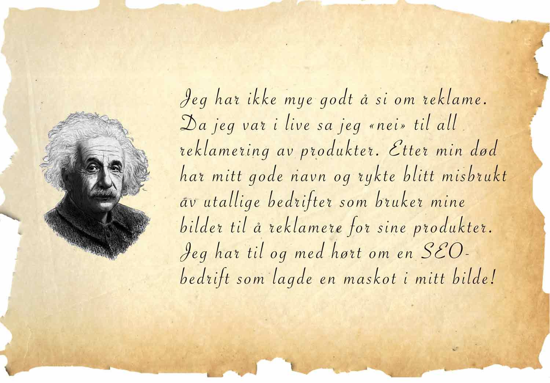 Einstein sitat om reklame