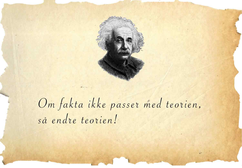 Einstein sitat om fakta og teori